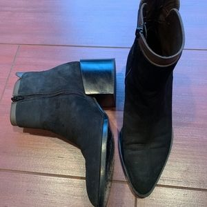 Vince Laura two tone suede ankle boots